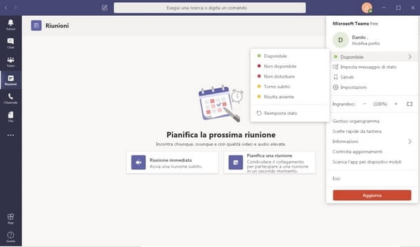 Gestire le preferenze di status in Microsoft Teams