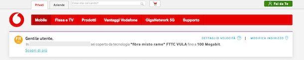 Copertura Fibra Vodafone