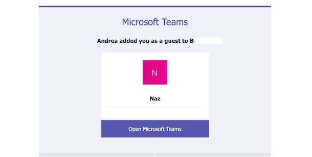 Accedere a Microsoft Teams come ospite