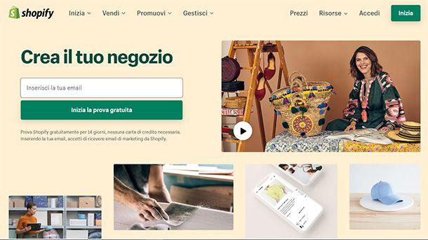Aprire un ecommerce su Shopify