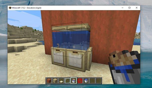Acquario con blocchi invisibili Minecraft