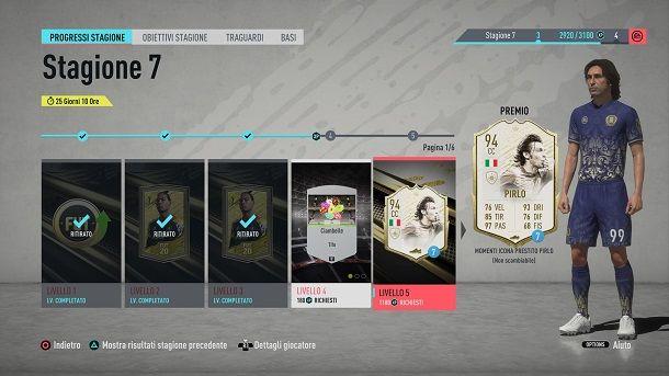 Premi FUT FIFA punti XP