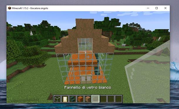 Pannello di vetro bianco Minecraft