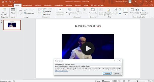 Inserire video da YouTube su PowerPoint