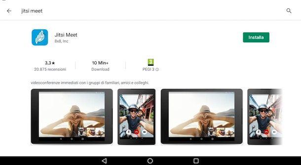Come scaricare Jitsi Meet su Android