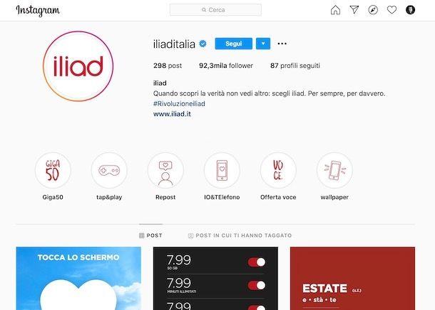 Iliad Instagram