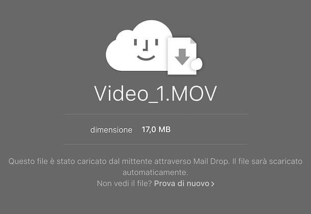 Download file con Mail Drop