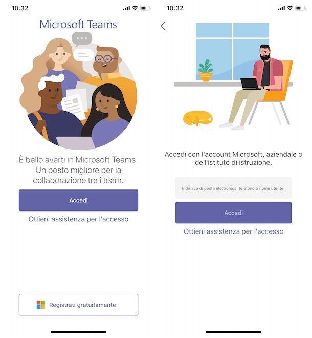 Accedere a Microsoft Teams da smartphone e tablet