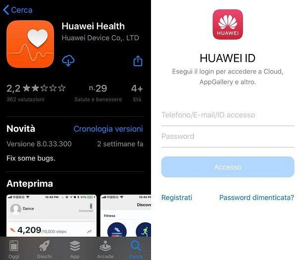 Huawei Health iPhone