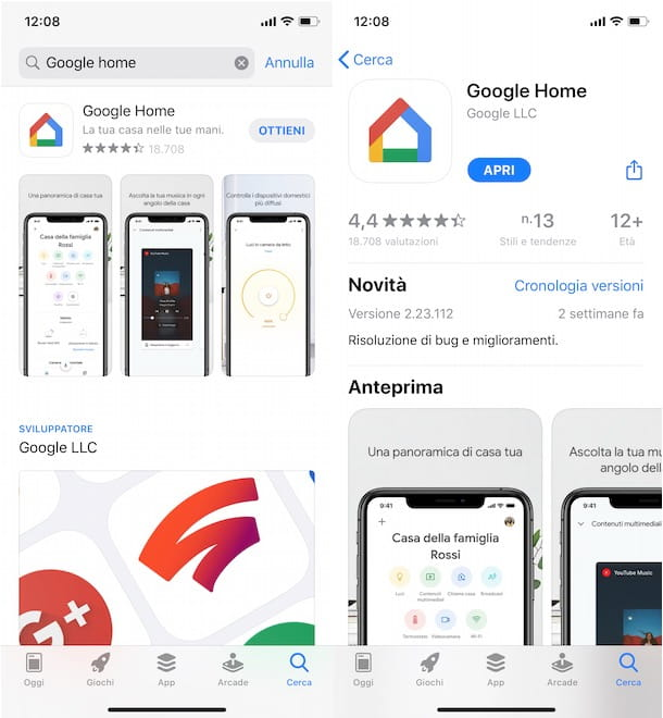 Come installare Google Home su iPhone