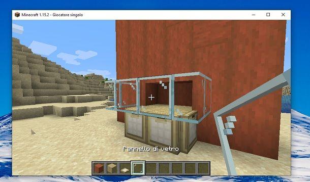 Pannello di vetro Minecraft