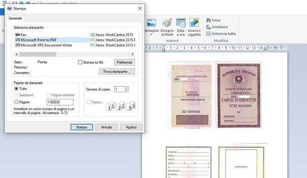 Scannerizzare Carta d'identità su Windows
