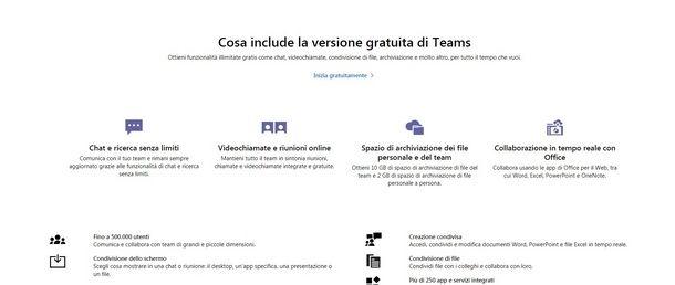 Le diverse versioni di Microsoft Teams