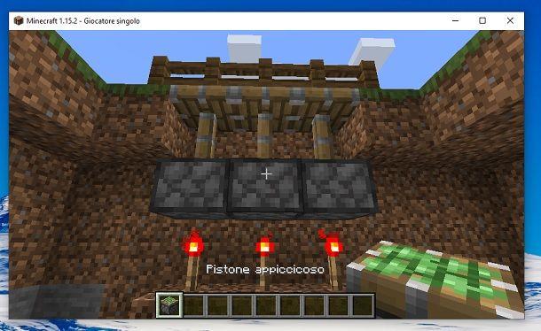 Pistone appiccicoso Minecraft
