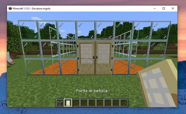 Porta di betulla Minecraft