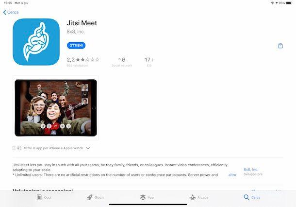 Come scaricare Jitsi Meet su iPad