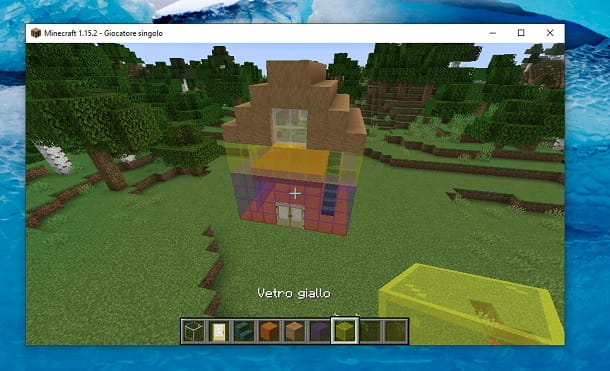 Casa vetro colorata Minecraft