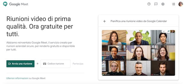 Come fare un webinar con Google Meet