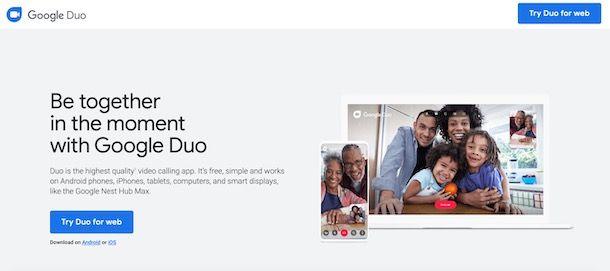 Come accedere a Google Duo