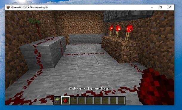 Polvere di redstone Minecraft
