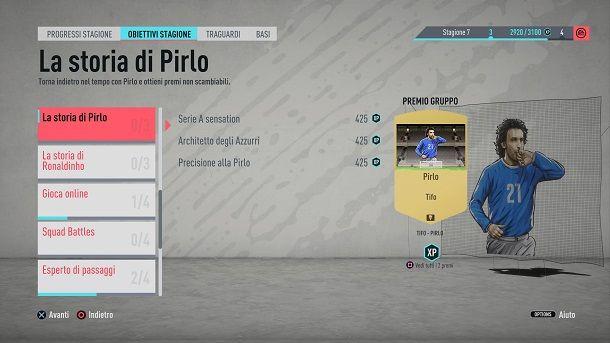 Obiettivi FIFA XP FUT