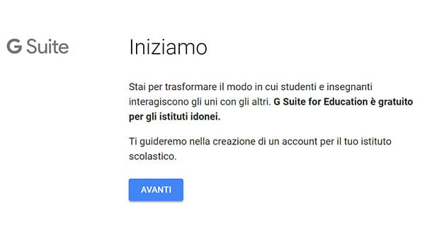 Come registrarsi a G Suite for Education