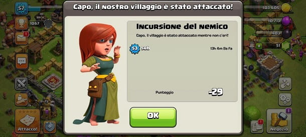 Sconfitta Clash of Clans
