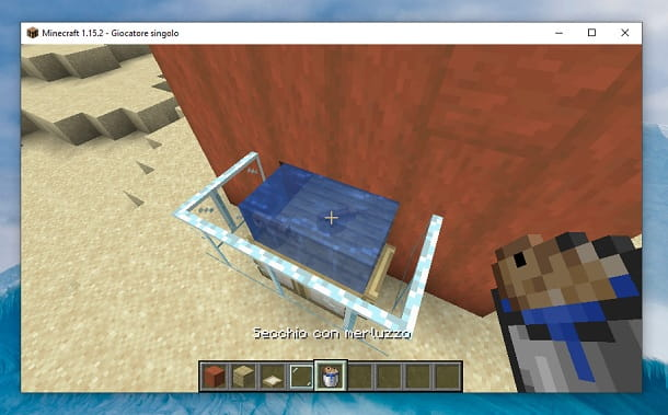 Secchio con merluzzo Minecraft