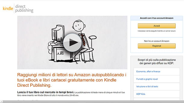 Come stampare un libretto con Kindle Direct Publishing