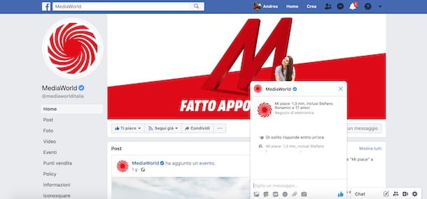 Come contattare MediaWorld via social network