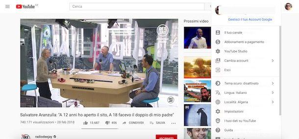 Come cambiare lingua su YouTube da computer