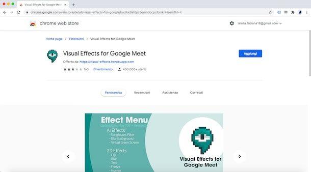 Come attivare Visual Effect