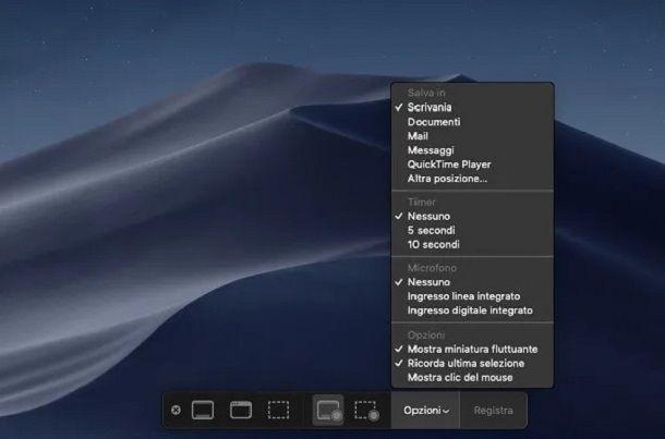 Istantanea Schermo è la soluzione integrata e gratuita per registrare lo schermo su Mac