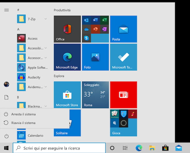 Riavvio Windows 10 modalità provvisoria