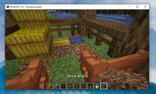 Terra brulla Minecraft