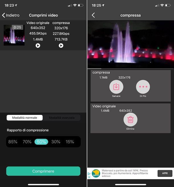 Compressore video - ridurre