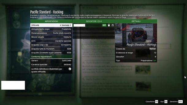 Configurazione colpi GTA Online