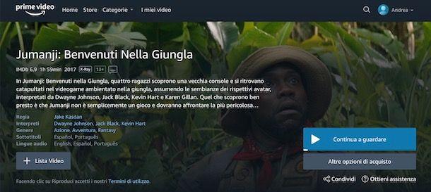 Come cambiare lingua audio su Amazon Prime Video
