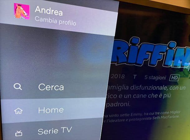 Cambiare account Netflix su Apple TV