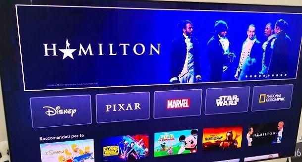 Schermata Disney+ Samsung