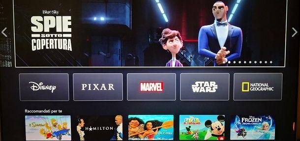 Schermata Disney+ LG