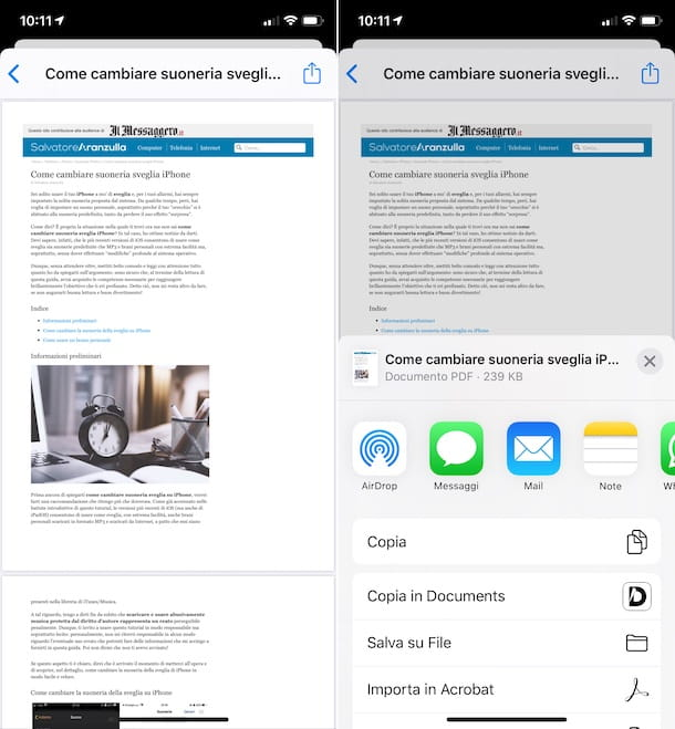 Stampante virtuale PDF iPhone