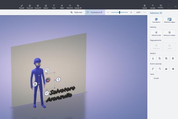 Come usare Paint 3D