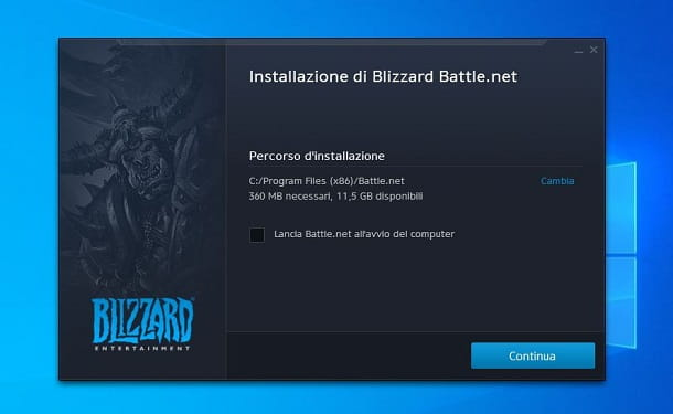 Installazione launcher Battle.net