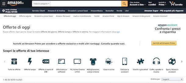 Come trovare sconti su Amazon