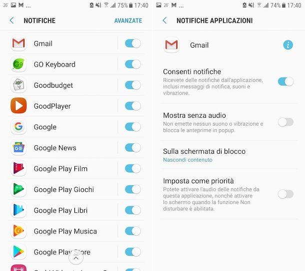 Notifiche Gmail Impostazioni Android