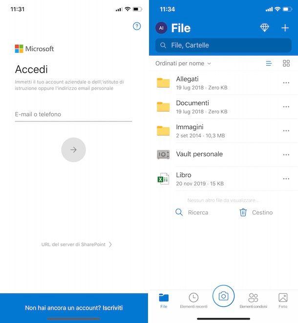 Come accedere a OneDrive da cellulare