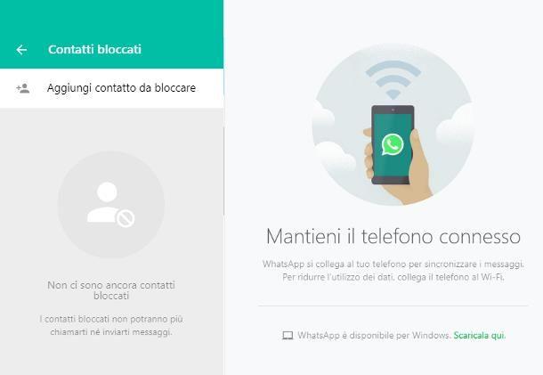 Come bloccare messaggi WhatsApp