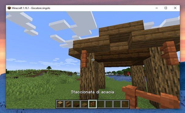 Staccionata di acacia Minecraft