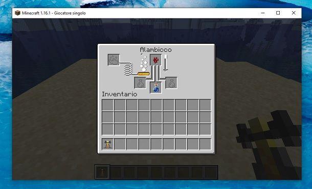 Creazione pozione Minecraft